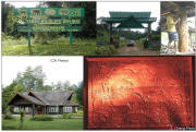Photos of gates, carvings & Visitor Centre
